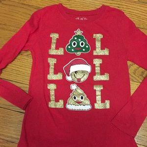 Girls size 5/6 Christmas long sleeved shirt